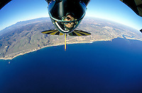 Aerial pilot over Newport Beach, CA.Photo by Chris Covatta
