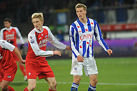 VOETBAL: HEERENVEEN: Abe Lenstra Stadion, 19-02-2011, SC Heerenveen - AZ, Rasmus Elm (#20 | AZ), Viktor Elm (#7 | SCH), Eindstand 0-2, ©foto Martin de Jong