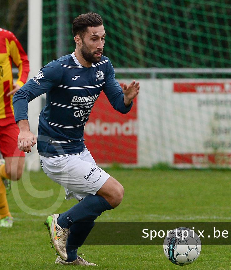 KVC Wingene : Aaron Bruning<br /> Foto VDB / Bart Vandenbroucke