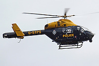 STOCK - SOUTH YORKSHIRE POLICE HELICOPTER<br /> <br /> Mandatory Credit - Alex Roebuck / www.alexroebuck.co.uk