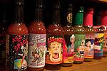 Bottles of hot sauce in a souvenir shop, French Quarter, New Orleans, LA - April 2006