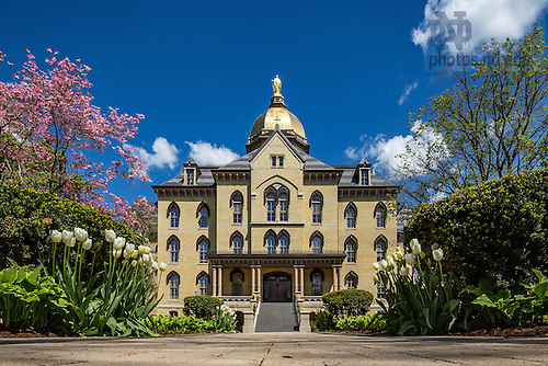 May 3, 2016; Main Quad in spring. (Photo by Matt Cashore/University of Notre Dame)