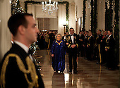 Actress Barbara Cook is escorted through the Cross Hall of the White House to the East Room of the White House for a Kennedy Center Honors reception, Friday, December 4, 2011in Washington, DC.  For their accomplishments and contributions to the arts actress Meryl Streep, singer Neil Diamond, actress Barbara Cook, musician Yo-Yo Ma, and musician Sonny Rollins where etched recognized as this year's recipients of the Kennedy Center Honors..Credit: Brendan Smialowski / Pool via CNP