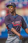 11 March 2013: Atlanta Braves outfielder B.J. Upton warms up prior to a Spring Training game against the Washington Nationals at Space Coast Stadium in Viera, Florida. The Braves defeated the Nationals 7-2 in Grapefruit League play. Mandatory Credit: Ed Wolfstein Photo *** RAW (NEF) Image File Available ***