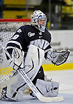1 February 2008: University of New Hampshire Wildcats' goaltender Brian Foster, a Sophomore from Pembroke, N.H., warms up prior to a game against the University of Vermont Catamounts at Gutterson Fieldhouse in Burlington, Vermont. The Wildcats defeated the Catamounts 5-1...Mandatory Photo Credit: Ed Wolfstein Photo