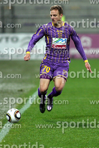 Ales Mertelj of Maribor  during the football match between NK Maribor and NK Domzale, played in the 18th Round of Prva liga football league 2010 - 2011, on November 20, 2010, at Stadium Ljudski vrt, Maribor, Slovenia.  (Photo by Marjan Kelner / Sportida)