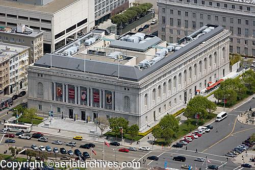 aerial photograph Asian Art Museum Civic Center San Francisco, California