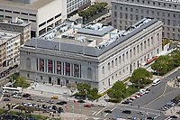 aerial photograph Asian Art Museum Civic Center San Francisco, California