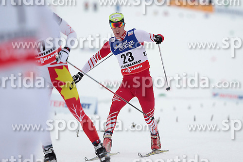 23.02.2013, Langlaufstadion, Lago di Tesero, ITA, FIS Weltmeisterschaften Ski Nordisch, Langlauf Herren, Skiathlon, im Bild Johannes Duerr (AUT) // Johannes Duerr of Austria during the Mens Cross Country Skiathlon of the FIS Nordic Ski World Championships 2013 at the Cross Country Stadium, Lago di Tesero, Italy on 2013/02/23. EXPA Pictures ©  2013, PhotoCredit: EXPA/ Federico Modica