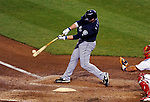 21 June 2011: Seattle Mariners infielder Adam Kennedy in action against the Washington Nationals at Nationals Park in Washington, District of Columbia. The Nationals rallied from a 5-1 deficit, scoring 5 runs in the bottom of the 9th, to defeat the Mariners 6-5 in inter-league play. Mandatory Credit: Ed Wolfstein Photo