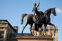 Queen Victoria Monument in George Square, Glasgow, Scotland