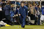 18 October 2012: UNC head coach Anson Dorrance. The University of North Carolina Tar Heels defeated the Duke University Blue Devils 2-0 at Koskinen Stadium in Durham, North Carolina in a 2012 NCAA Division I Women's Soccer game.