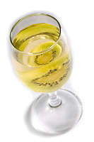 Glass of white wine,