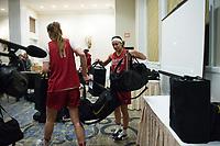 Dallas, TX - March 29, 2017: The Stanford Cardinal prepares for the Final Four 2017 in Dallas, Texas