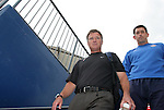 United States head coach Greg Ryan with goalkeeper coach Phil Wheddon (r) on Saturday, May 12th, 2007 at Pizza Hut Park in Frisco, Texas. The United States Women's National Team defeated Canada 6-2 in a women's international friendly.