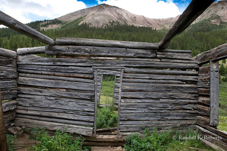 Ruins of the ghost town of Independence, Colorado, high atop Independence Pass at an elevation of 10,830 feet. The town was founded July 4, 1879 after gold was discovered in the area. It became a ghost town in the late 1800s when trains came into Aspen and the gold played out.