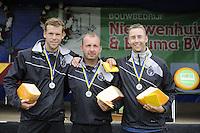 KAATSEN: PINGJUM: 04-09-2016, Hoofdklasse Kaatsen, Hylke Bruinsma, Johan van der Meulen, Alle Jan Anema, ©foto Martin de Jong