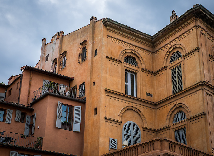 FLORENCE, ITALY - CIRCA MAY 2015:  Old apartment buildings in Florence.