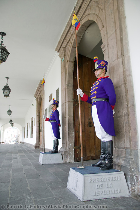 Guards at the Placia del Gobierno, Quito, Ecuador