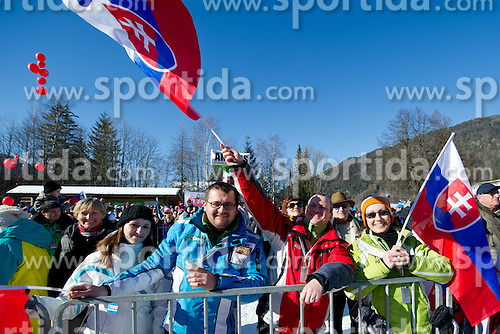 Fans during 2nd Run of 48th Golden Fox Audi Alpine FIS Ski World Cup Ladies Slalom, on January 22, 2012 in Podkorn, Kranjska Gora, Slovenia. (Photo By Matic Klansek Velej / Sportida.com)