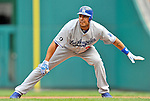 5 September 2011: Los Angeles Dodgers outfielder Juan Rivera in action against the Washington Nationals at Nationals Park in Los Angeles, District of Columbia. The Nationals defeated the Dodgers 7-2 in the first game of their 4-game series. Mandatory Credit: Ed Wolfstein Photo