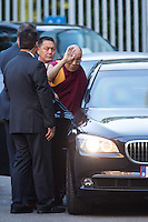 The Dalai Lama surrounded by high security in Brussels - Semi-Exclusive - Belgium