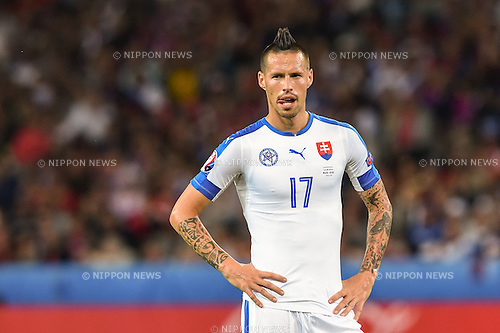 Marek Hamsik (Slovakia) ; <br /> June 15, 2016 - Football : Uefa Euro France 2016, Group B, Russia 1-2 Slovakia at Stade Pierre Mauroy, Lille Metropole, France. (Photo by aicfoto/AFLO)