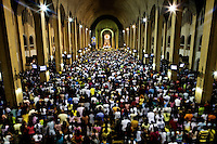 Evening prayer in the Baclaran Church. The Catholic Church is the most dominant religion in the country and a vocal opponent against abortion, sterilization and all other forms of contraception.The church has considerable influence on government policy and has succeeded in a reduction of government campaigns on pregnancy-prevention and sexual education.