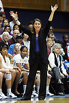 20 December 2011: Duke head coach Joanne P. McCallie. The Duke University Blue Devils defeated the University of North Carolina Wilmington Seahawks 107-45 at Cameron Indoor Stadium in Durham, North Carolina in an NCAA Division I Women's basketball game.