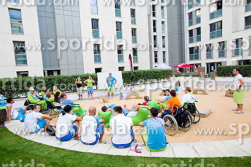 Roman Jakic of Slovenia in Paralympic village during Day 9 of the Summer Paralympic Games London 2012 on September 8, 2012, in Paralympic village, London, Great Britain. (Photo by Vid Ponikvar / Sportida.com)