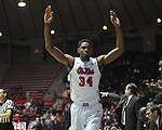 "Ole Miss' Aaron Jones (34) celebrate a teammates' three point basket vs. East Tennessee State at the C.M. ""Tad"" Smith Coliseum in Oxford, Miss. on Saturday, December 14, 2012. Mississippi won 77-55 to improve to 7-1. (AP Photo/Oxford Eagle, Bruce Newman).."