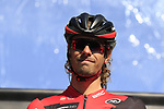 Daniel Oss (ITA) BMC Racing Team on stage before the start of Gent-Wevelgem in Flanders Fields 2017, running 249km from Denieze to Wevelgem, Flanders, Belgium. 26th March 2017.<br /> Picture: Eoin Clarke | Cyclefile<br /> <br /> <br /> All photos usage must carry mandatory copyright credit (&copy; Cyclefile | Eoin Clarke)