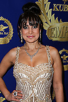 BEVERLY HILLS, CA, USA - MARCH 28: Saye Yabandeh at the Versace Unveiling Of The 1st Pop Recording Artist Superhero - KUBA Ka's Performance Outfits. Designed by the legendary fashion hosuse - Donatella Versace. For the Benefit of the Face Forward Foundation (Plastic Surgery for Destroyed Faces from Violence). Pop entertainer TV personality KUBA Ka, together with VERSACE, unveiled Kuba Ka's new Versace images, for the First Pop Artist/Superhero of the World. He has become the inspiration of Donatella's newest and wildest creations and will celebrate the launch of his new power house conglomerate - KUBA Ka Empire Inc. in collaboration with the sensational fashion house - VERSACE on Friday, his birthday at a red carpet media and celebrity event at the luxurious Peninsula Hotel in Beverly Hills held at the Peninsula Hotel on March 28, 2014 in Beverly Hills, California, United States. (Photo by Xavier Collin/Celebrity Monitor)