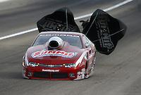 Apr 10, 2015; Las Vegas, NV, USA; NHRA pro stock driver Greg Anderson during qualifying for the Summitracing.com Nationals at The Strip at Las Vegas Motor Speedway. Mandatory Credit: Mark J. Rebilas-