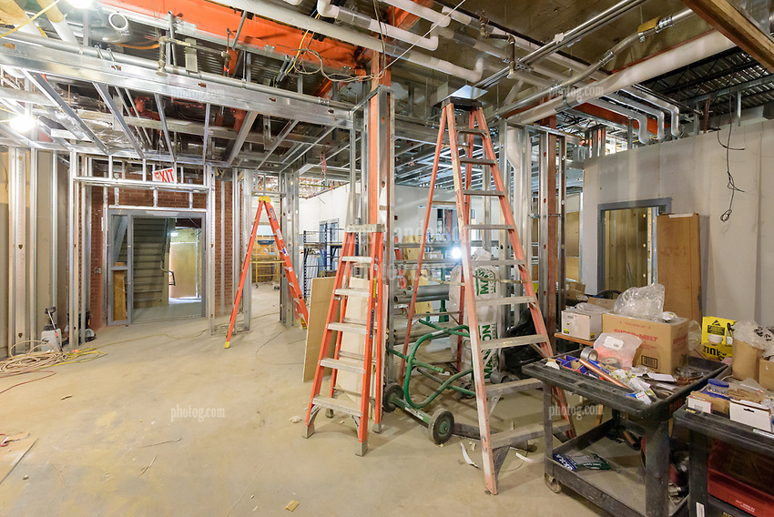 Major Renovation Litchfield Hall WCSU Danbury CT<br /> Connecticut State Project No: CF-RD-275<br /> Architect: OakPark Architects LLC  Contractor: Nosal Builders<br /> James R Anderson Photography New Haven CT photog.com<br /> Date of Photograph: 28 February 2017<br /> Camera View: 26 - First Floor, Hall 100