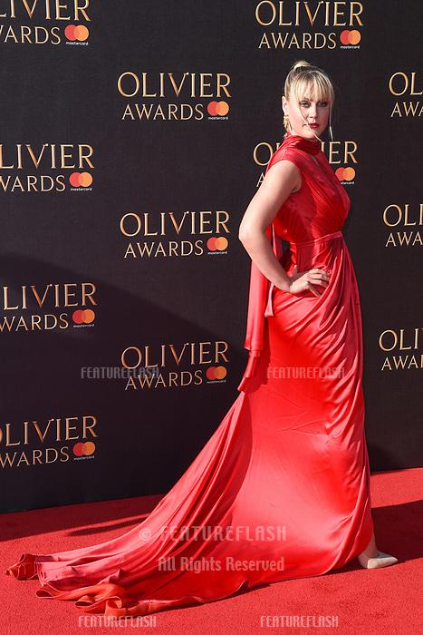 Camilla Kerslake at The Olivier Awards 2017 at the Royal Albert Hall, London, UK. <br /> 09 April  2017<br /> Picture: Steve Vas/Featureflash/SilverHub 0208 004 5359 sales@silverhubmedia.com