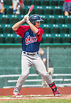 8 July 2014: Lowell Spinners designated hitter Nick Longhi in action against the Vermont Lake Monsters at Centennial Field in Burlington, Vermont. The Lake Monsters rallied in the 9th inning to defeat the Spinners 5-4 in NY Penn League action. Mandatory Credit: Ed Wolfstein Photo *** RAW Image File Available ****
