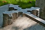 Stone cross in Laurel Hill Cemetery in Philadelphia