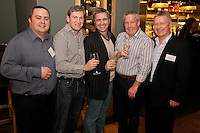 From left are Adam Parker of Nat West, Chris Hall of Gilbert & Hall Developments, Shaun Fox of Vulpec, Paul Tewson of Gilbert & Hall Developments and Steve Cuthbert of Saxondale Properties