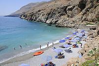 Vrissi beach in summer, Chora Sfakion, Sfakia, Crete