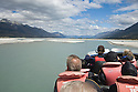 Jet Boat trip on the Dart River near Glenorchy.  North end of Lake Wakatipu.  South Island, New Zealand
