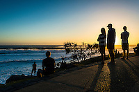 Snapper Rocks, Coolangatta, Queensland Australia. (Sunday March 16, 2014) Burleigh Cove just before sunrise. &ndash;  The swell  was in the 6'-10' range today from the East. D-Bah was closing out and the Superbank while Currumbin and Burleigh<br />  were all big but unridable as the wind came up from the NW early and blew out the waves. . Photo: joliphotos.com