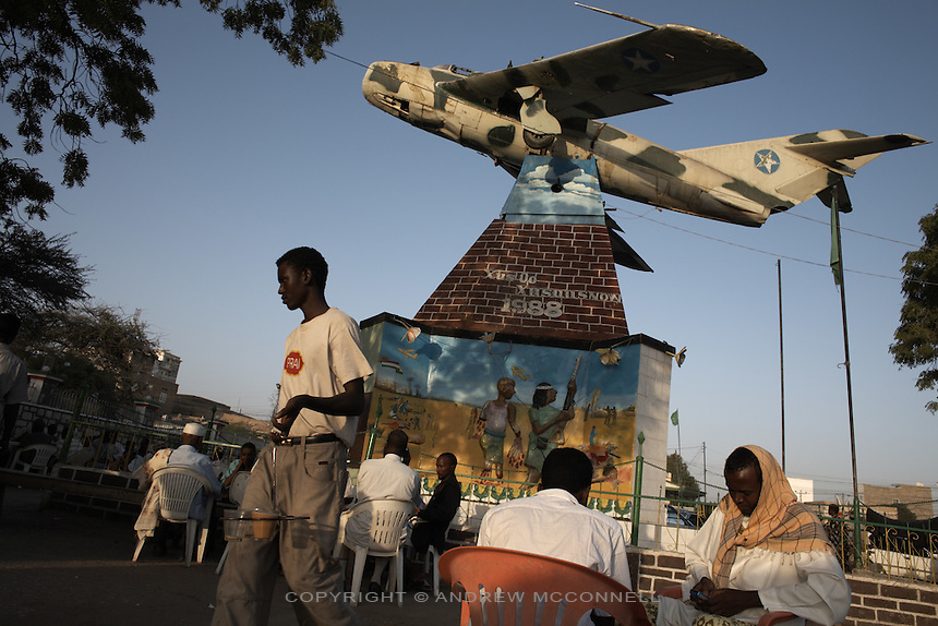 A MiG fighter jet which was used to bomb Hargeisa during the civil war stands as a memorial in the center of the city.