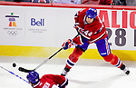 6 February 2010: Montreal Canadiens' defenseman Roman Hamrlik in action against the Pittsburgh Penguins at the Bell Centre in Montreal, Quebec, Canada. The Canadiens defeated the Penguins 5-3. Mandatory Credit: Ed Wolfstein Photo