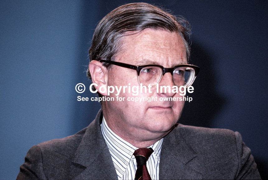 Patrick Mayhew, MP, Conservative Party, Under Secretary of State, Department of the Environment, UK, 198010000319c.<br /> <br /> Copyright Image from Victor Patterson, 54 Dorchester Park, Belfast, UK, BT9 6RJ<br /> <br /> t1: +44 28 9066 1296 (from Rep of Ireland 048 9066 1296)<br /> t2: +44 28 9002 2446 (from Rep of Ireland 048 9002 2446)<br /> m: +44 7802 353836<br /> <br /> e1: victorpatterson@me.com<br /> e2: victorpatterson@gmail.com<br /> <br /> The use of my copyright images is subject to my Terms &amp; Conditions.<br /> <br /> It is IMPORTANT that you familiarise yourself with them. They are available on my website at www.victorpatterson.com.<br /> <br /> None of my copyright images may be used on a website unless they are visibly watermarked, i.e. &copy; Victor Patterson within the body of the visible image. Metadata denoting my copyright must NOT be deleted. <br /> <br /> Web use is extra at currently recommended NUJ rates.