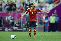 FUSSBALL  EUROPAMEISTERSCHAFT 2012   VORRUNDE Spanien - Italien            10.06.2012 Xavi Hernandez (Spanien)