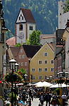 Architecture in the Medieval town of Füssen, Bavaria, Germany