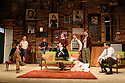 London, UK. 08.02.2017.  THE BOYS IN THE BAND, by Mart Crowley, opens in the WEst End's Vaudeville Theatre, after a successful transfer from the Park Theatre. The cast is: Mark Gatiss, Ian Hallard, Daniel Boys, Jack Derges, James Holmes, John Hopkins, Greg Lockett, Ben Mansfield, Nathan Nolan. Picture shows: Greg Lockett (Bernard), James Holmes (Emory), Jack Derges (Cowboy), Mark Gatiss (Harold), Ian Hallard (Michael), Daniel Boys (Donald), Ben Mansfield (Larry), Nathan Nolan (Hank). Photograph © Jane Hobson.