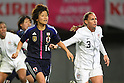 (L to R) Asuna Tanaka (JPN), Christie Rampone (USA), .April 1, 2012 - Football / Soccer : .KIRIN Challenge Cup 2012 .Match between Japan 1-1 USA .at Yurtec Stadium Sendai, Miyagi, Japan. .(Photo by Daiju Kitamura/AFLO SPORT) [1045]..