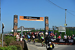 The peloton enter pave sector 29 Troisvilles a Inchy during the 115th edition of the Paris-Roubaix 2017 race running 257km Compiegne to Roubaix, France. 9th April 2017.<br /> Picture: ASO/P.Ballet | Cyclefile<br /> <br /> <br /> All photos usage must carry mandatory copyright credit (&copy; Cyclefile | ASO/P.Ballet)